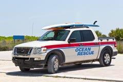 Veicolo di soccorso dell'oceano del bagnino Fotografie Stock