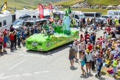 Veicolo di Teisseire in alpi - Tour de France 2015 Fotografia Stock