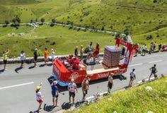 Veicolo di Vittel - Tour de France 2014 Immagini Stock Libere da Diritti