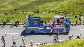 Veicolo di X-tra - Tour de France 2014 Fotografie Stock Libere da Diritti