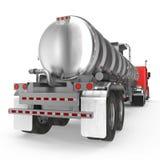 veicolo Grande camion del carico tank Autocisterna della benzina su bianco illustrazione 3D illustrazione vettoriale