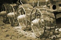 Veicolo spaziale automotore sovietico sulla superficie della luna fotografie stock