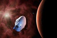 Veicolo spaziale del carico nell'orbita di basso Marte Elementi di questa immagine ammobiliati dalla NASA fotografie stock