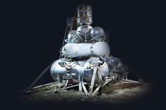 Veicolo spaziale per esplorare i pianeti immagini stock libere da diritti