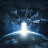 Veicolo spaziale planetario di invasione royalty illustrazione gratis