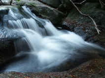 Veil. Running water with long speed shutter Royalty Free Stock Photography