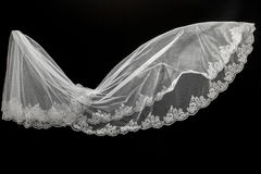 Veil on black background Royalty Free Stock Photos