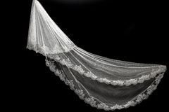 Veil on black background Royalty Free Stock Image