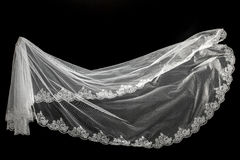 Veil on black background Royalty Free Stock Photo