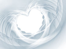 Veil Heart. Romantic white bridal veil in the shape of heart, ready to be customised with your text. Useful for celebrations like wedding, valentines day, bridal Royalty Free Stock Images