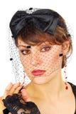 Veil lady. Royalty Free Stock Photography