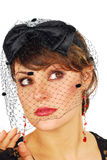 Veil lady. Royalty Free Stock Photography