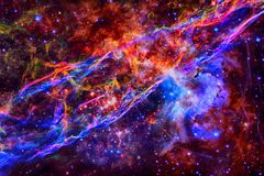 Veil nebula in outer space. royalty free stock photography
