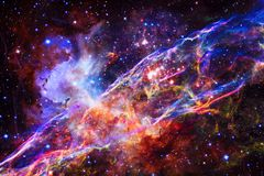 Veil nebula in outer space. vector illustration