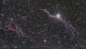 Veil Nebula in Swan constellation Stock Photography