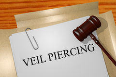 Veil piercing concept. Veil piercing Title On Legal Documents Stock Images
