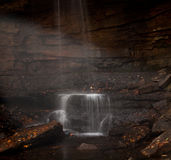 Veil of water over Cucumber Falls Royalty Free Stock Photos