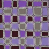 Veilchen und Braun gerundeter quadratischer abstrakter Dots Geometric Pattern Background Lizenzfreies Stockbild