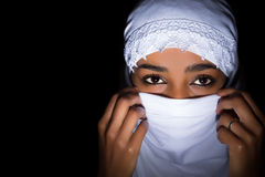 Veiled African woman Royalty Free Stock Photos