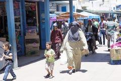 veiled Arab woman,  Essauria, Morocco Royalty Free Stock Photo