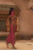 Veiled arabian nights princess Stock Photo