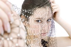 Veiled Beauty Stock Photos