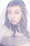 Veiled girl Royalty Free Stock Photos