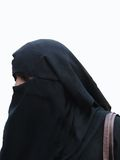 Veiled muslim woman visits the Lad Bazaar Stock Photography