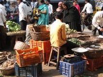 Veiled muslim women shop for food Stock Photo