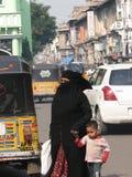 Veiled muslim women shop in the Lad Bazaar Stock Image