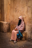 Veiled old woman. Marrakesh. Morocco Royalty Free Stock Photography