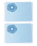 Veiled postcards with flower. Abstract two postcards to communicate their messages Stock Photo