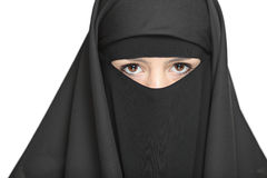 A veiled woman Royalty Free Stock Image