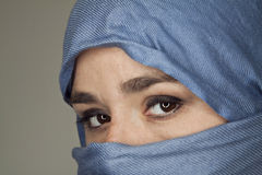 Veiled woman Stock Image
