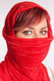 Veiled woman Royalty Free Stock Images