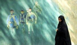 Veiled woman in teheran iran Royalty Free Stock Images