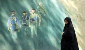 Veiled woman in tehran iran Stock Photos