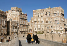 Sanaa old town in yemen Stock Image