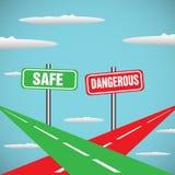 Veilig en gevaarlijk vector illustratie