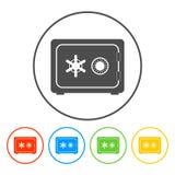 Veilig vectorpictogram Stock Foto