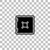 Veilig vlak pictogram vector illustratie