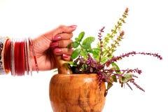 Veilige ayurveda Stock Afbeelding