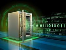 Veilige gegevensopslag stock illustratie