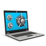 Veilige Laptop stock illustratie