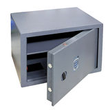 Veilige open doos Stock Foto's