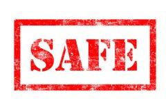 Veilige rubberzegel stock illustratie