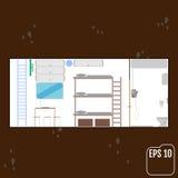 Veilige ruimte huisbunker Vector vector illustratie