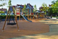 Veilige speelplaats voor jonge kinderen Stock Foto