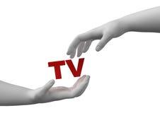 Veilige TV Stock Foto