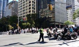 Veiligheid in de Stad van New York, NYPD-Ambtenaren, NYC, NY, de V.S. Royalty-vrije Stock Fotografie